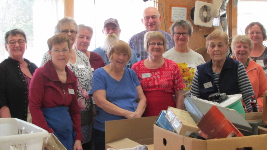 Rummage sale volunteers
